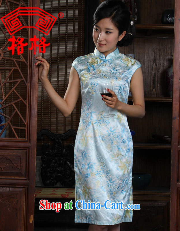 Huan Zhu Ge Ge breeze, Jacob following short Chinese fashionable and fresh short-sleeved black suit, for a tight budget, summer and autumn dresses 9.220152 billion light blue XL