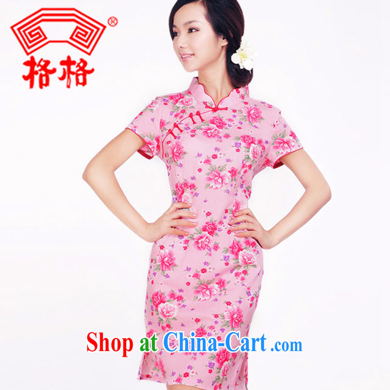 princess fall outfit New cotton Ya Xiu short cheongsam improvement - 3 J 1.220022 billion pink 2 XL