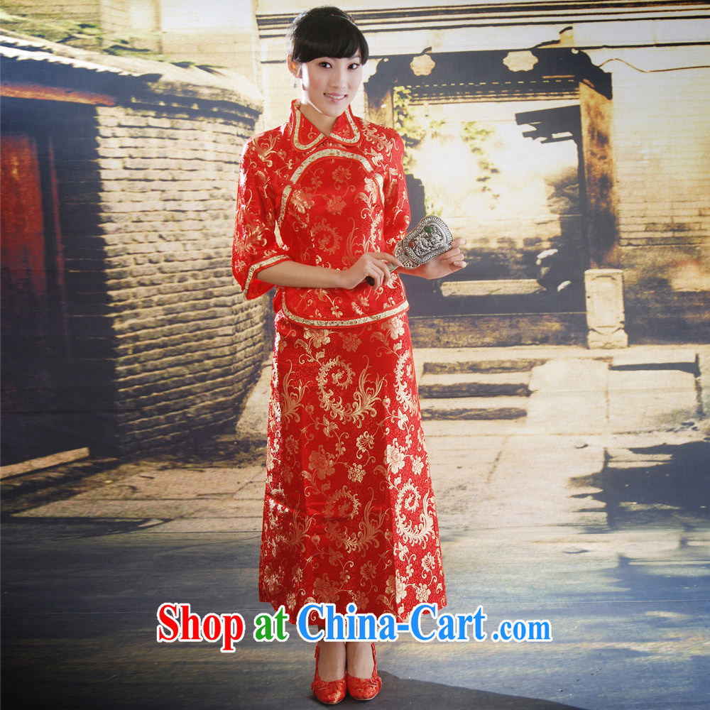 The bridal dresses wedding antique Chinese qipao improved stylish summer dresses skirts 606 M