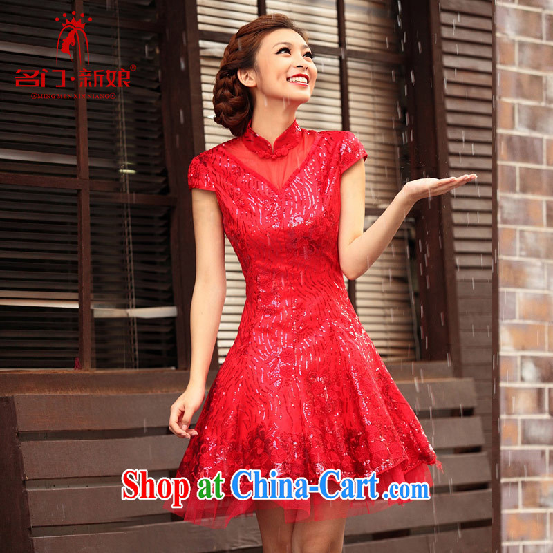 A Bridal Fashion improved cheongsam bridal dresses wedding dresses serving toast short qipao 270 L