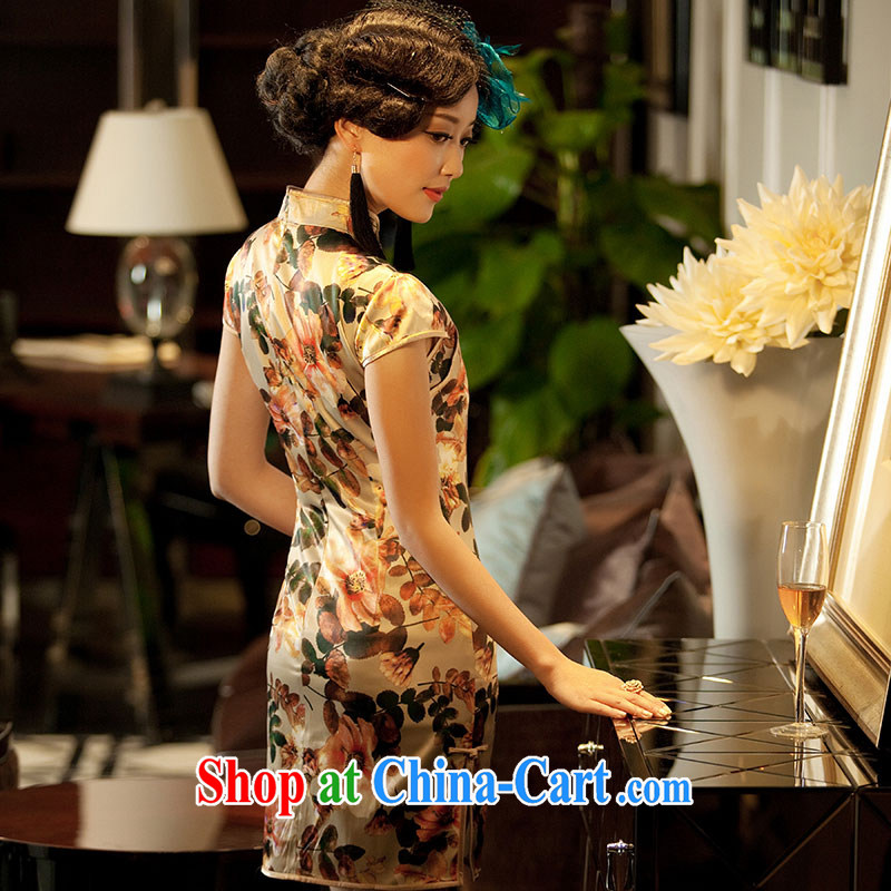 once and for all the proverbial hero class as soon as possible a new summer improved Stylish retro short cheongsam floral M, fatally jealous once and for all, and, on-line shopping