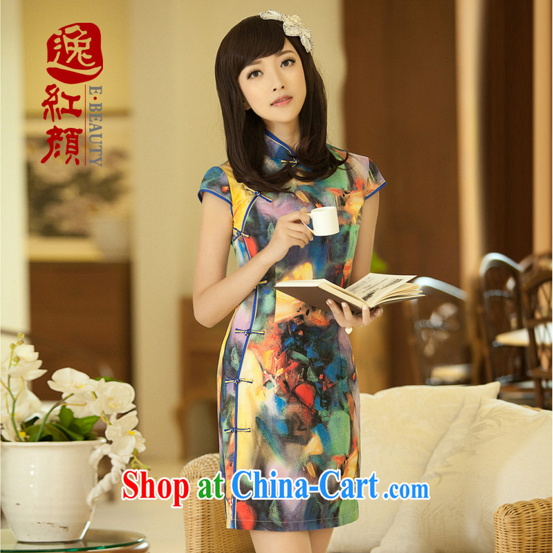 once and for all elections as soon as possible without Wind Screen dance new summer temperament improved stylish dresses dress stylish retro dresses suit 2 XL (recommendations 69 - 71 kg).