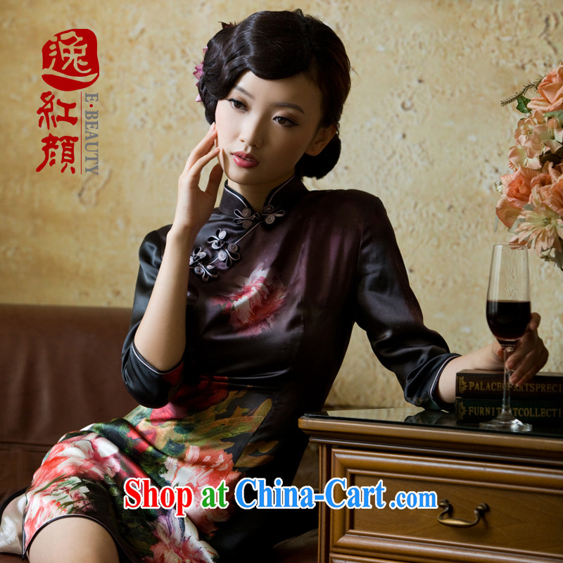 The proverbial hero once and for all as soon as possible such as animation heavy Silk Cheongsam new upscale summer improved Stylish retro floral L