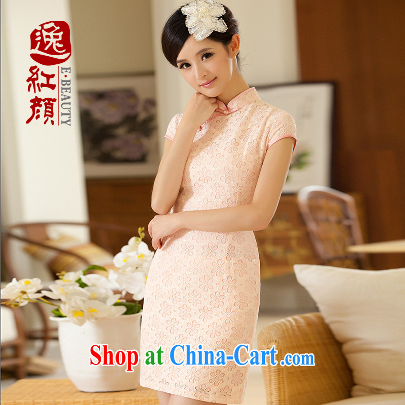The proverbial hero once and for all as soon as possible following de lace dresses 2014 new improved cheongsam dress improved Stylish retro rose red 2 XL