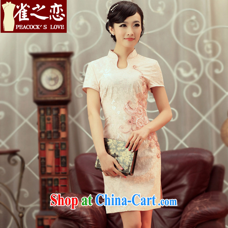 Bird lovers of Time thieves 2013 spring new improved stylish short cheongsam QD 250 figure XXL