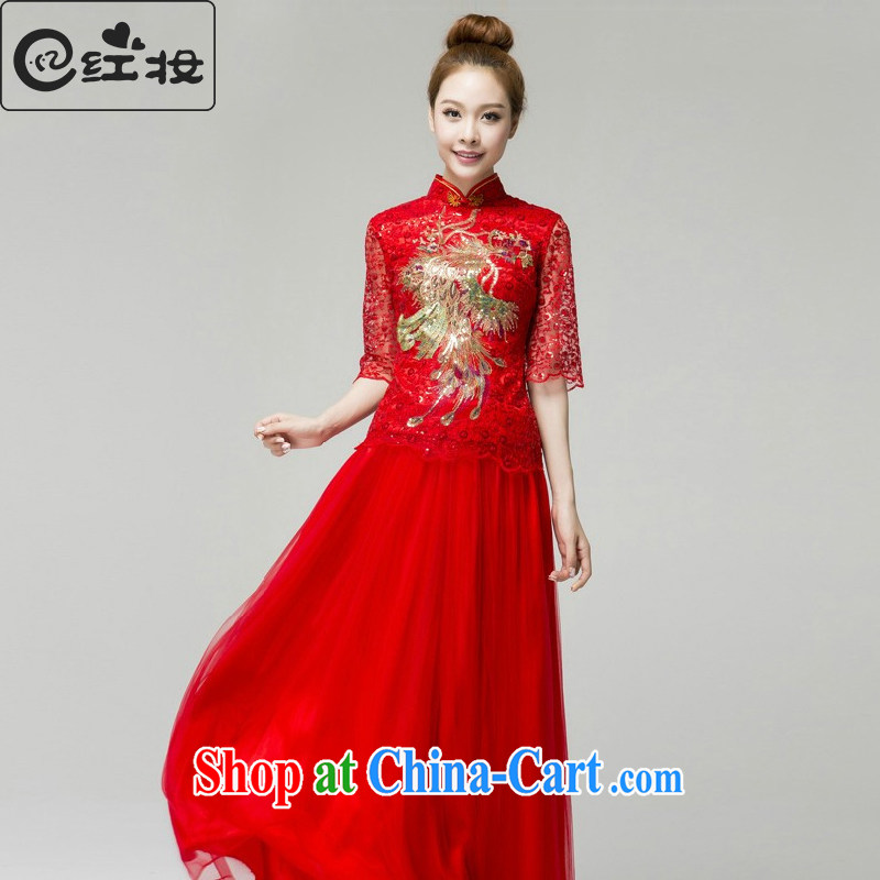 Recall that the red makeup, summer wedding dresses new bride's wedding dresses serving toast spring and summer stylish Phoenix, for evening dress Q 13,653 red XL