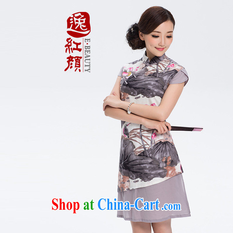 Once I should be grateful if you fatally jealous profusion of Yau Ma Tei cotton robes cotton the new improved Stylish retro linen long cheongsam dress suit S