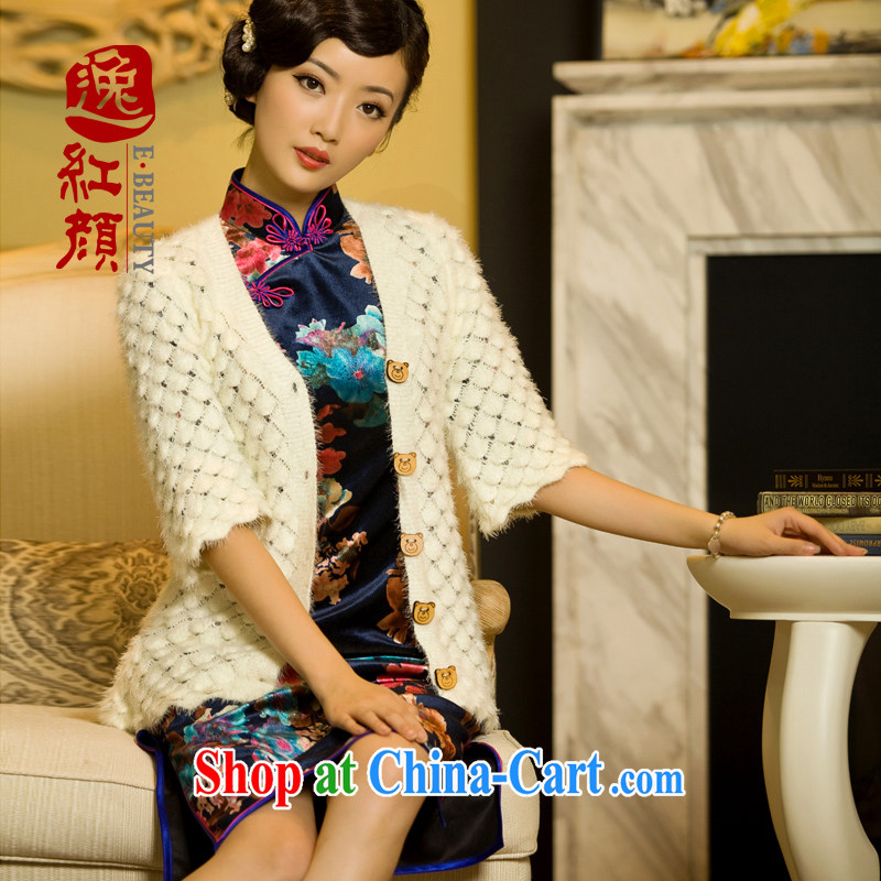 In the spring, new outfit knitted sweater jacket women spend a knitting small shawl white are code
