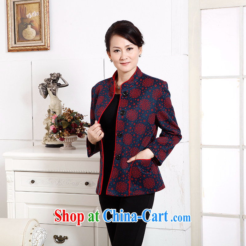 To Simitis, older women with new, old mother with a collar embroidered Tang jackets Z - Selina Chow Feng, for Tang blue 4 XL