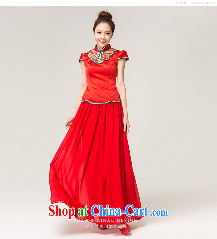 Recall that the red makeup spring and summer rich Peony stylish long cheongsam Chinese beauty brides with marriage toast clothing cheongsam dress Q 13,609 red XL pictures, price, brand platters! Elections are good character, the national distribution, so why buy now enjoy more preferential! Health