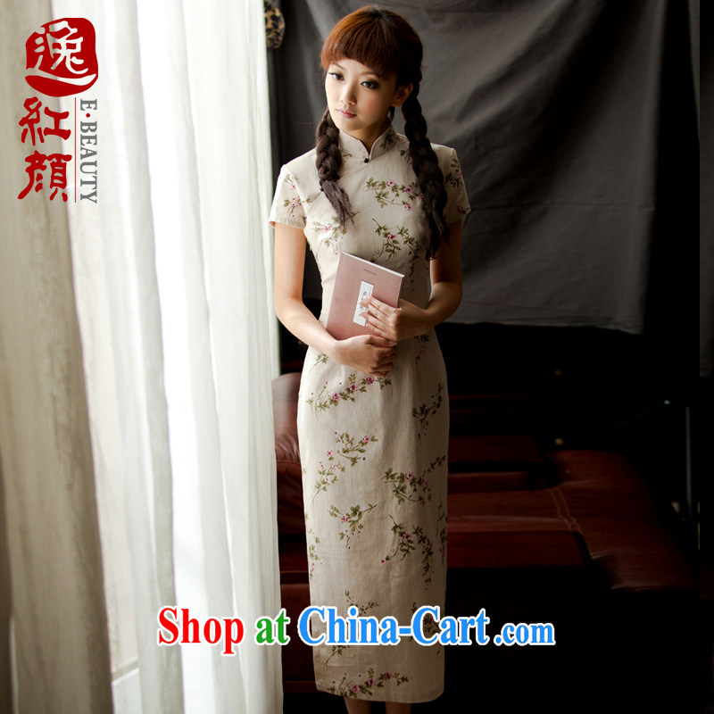 Once the proverbial hero -- forgetting D. new summer cotton the cheongsam linen long retro style improved cheongsam dress forgetting D. WJ 003 ZW 4 XL