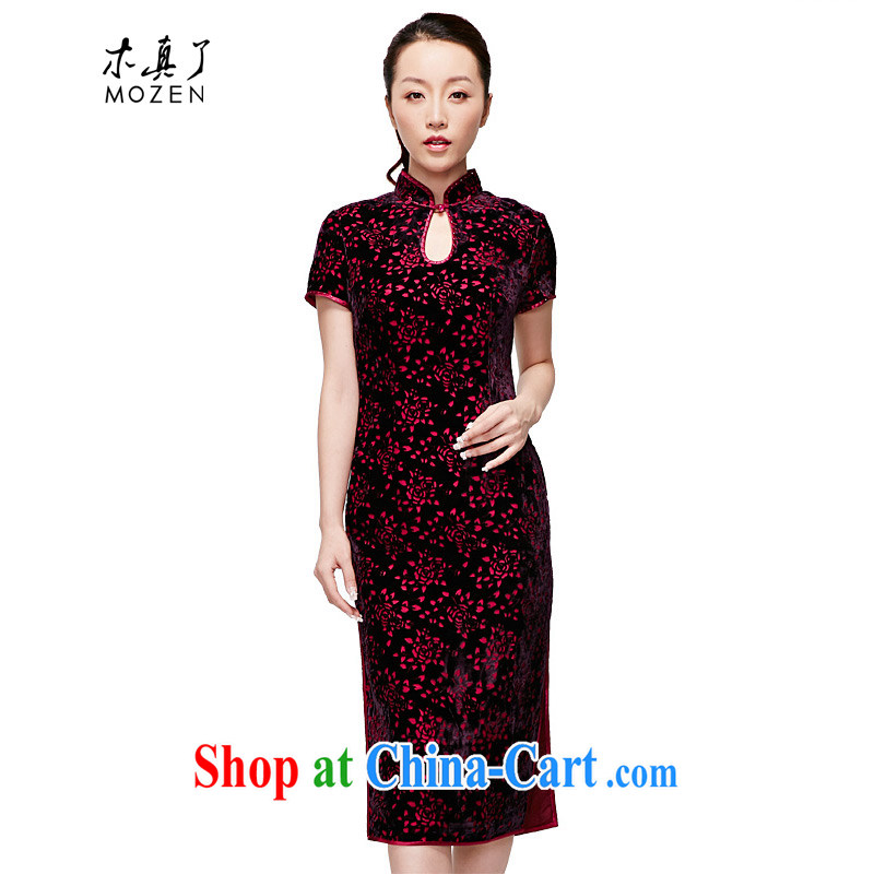 Wood is really the 2015 spring and summer new dresses, elegant antique dresses skirts dresses mother 11,659 16 deep purple XXXXL