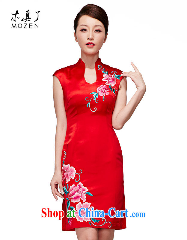 Wood is really the 2015 spring and summer new Chinese Antique elegant wedding dresses embroidery short dress package mail 22,062 04 red XXL