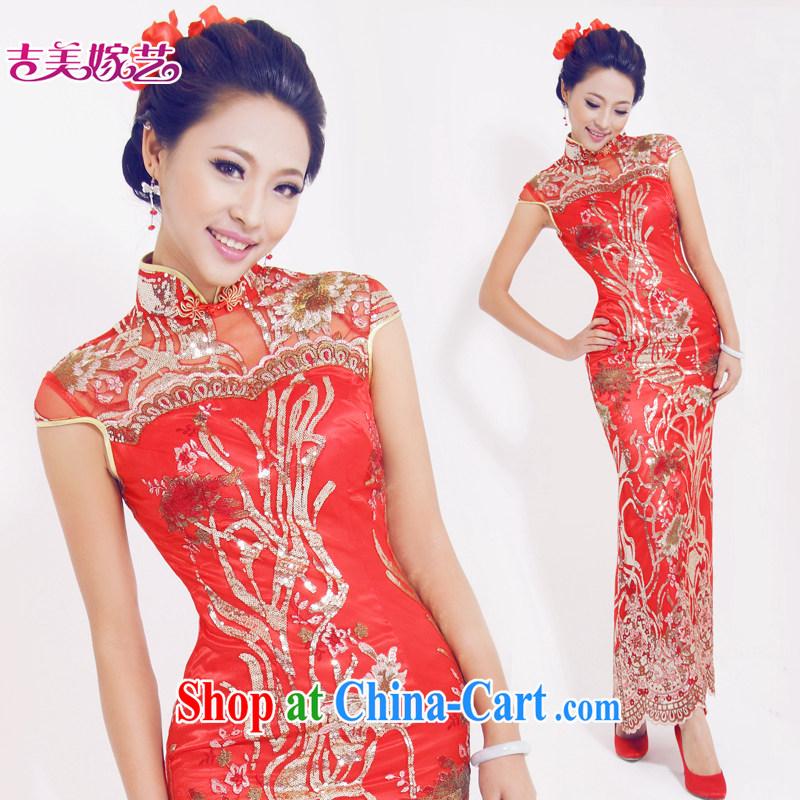 Vladimir Putin, and the wedding dresses, marry us arts 2015 new bag shoulder Chinese bridal dresses long QP 619 bridal dresses red M