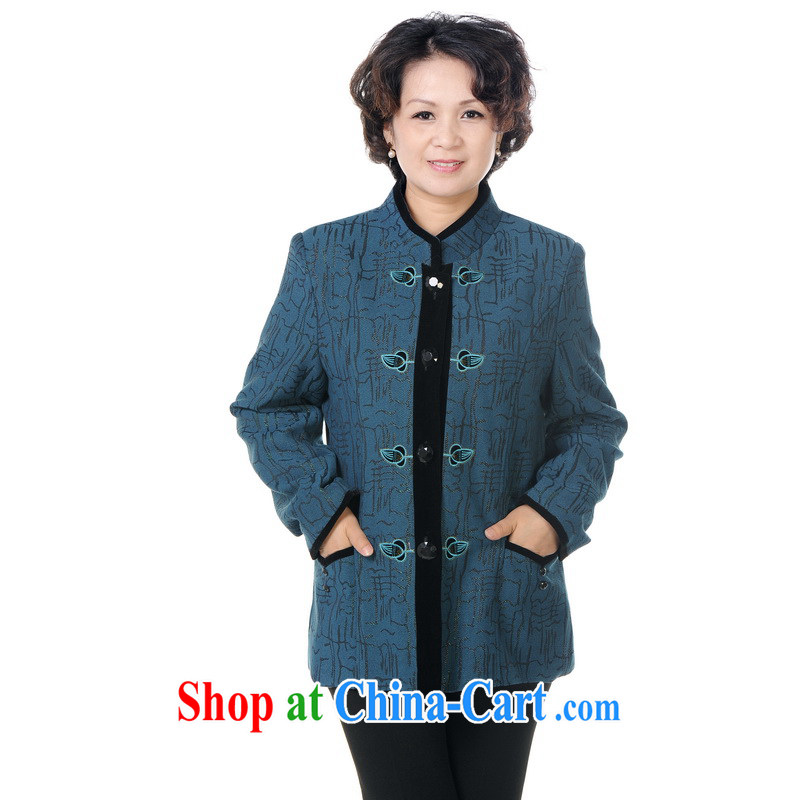To Simitis 2014 spring new female, for the Netherlands, the charge-back Tang jackets Z - Law, embroidery Tang blue XXXXL