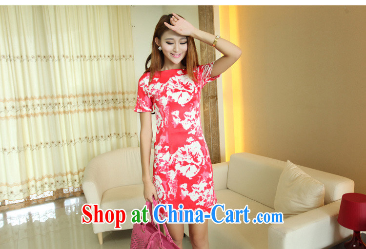 Mr Mak luxury 2015 summer new Korean version package and long skirt high waist graphics thin dresses sweet stamp beauty style cheongsam 7728 black M pictures, price, brand platters! Elections are good character, the national distribution, so why buy now enjoy more preferential! Health