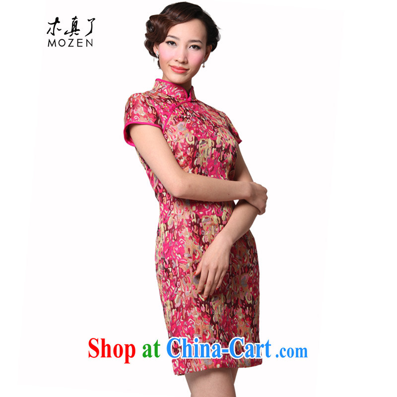Wood is really the 2015 Chinese Tang with half sleeve dresses and stylish, for cultivating dresses dresses package mail 11,492 19 pink XXXL