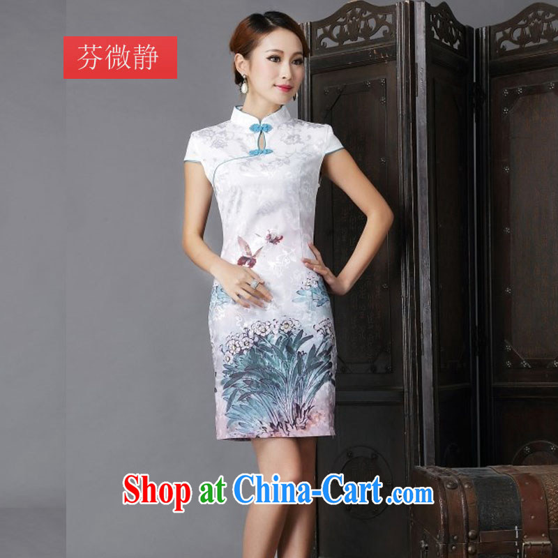 The goods and the payment -- 2014 national style in a new, Chinese style improved Daily Beauty sexy cheongsam dress 6632 light green XL