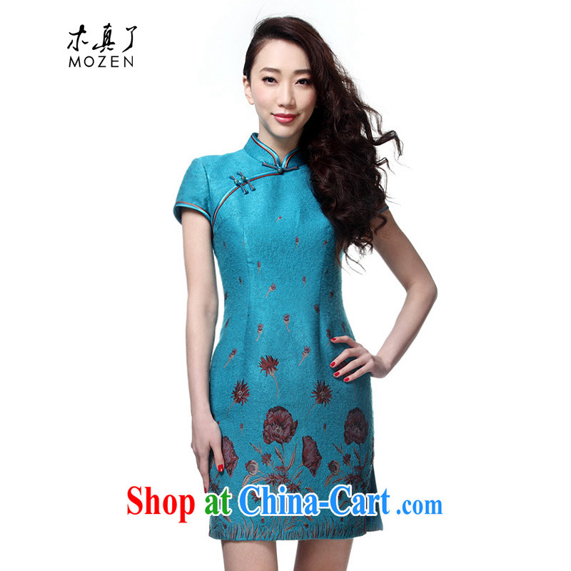 Wood is really the 2015 spring and summer new improved cheongsam dress beauty dresses elegant Chinese dresses 22,040 11 light blue XXL A ( )