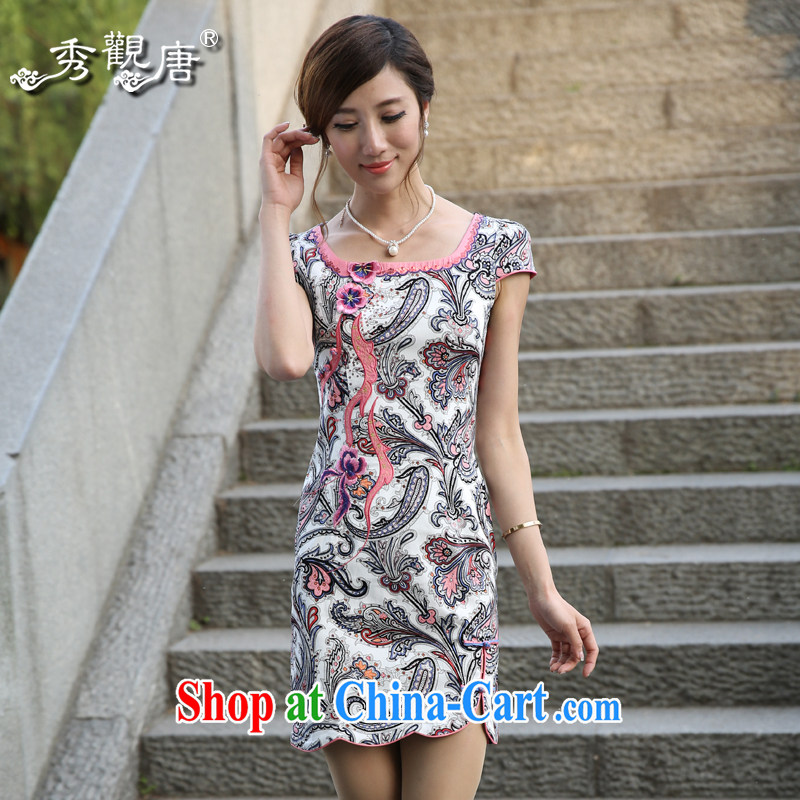 The CYD HO Kwun Tong' dream had spent 2015 summer fashion improved cheongsam new open-collar dress dresses G 13,515 saffron L
