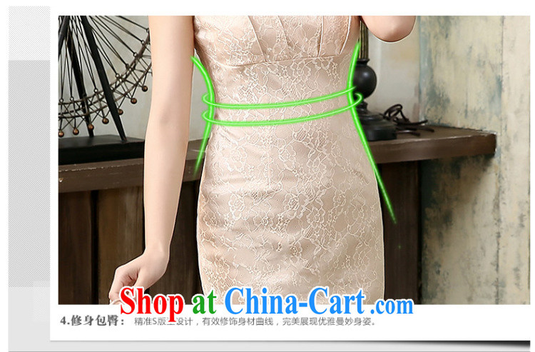 The CYD HO Kwun Tong' is clear, 2015 spring and summer with high-end elegant beauty short cheongsam dress improved, daily outfit QD 4130 pink L pictures, price, brand platters! Elections are good character, the national distribution, so why buy now enjoy more preferential! Health