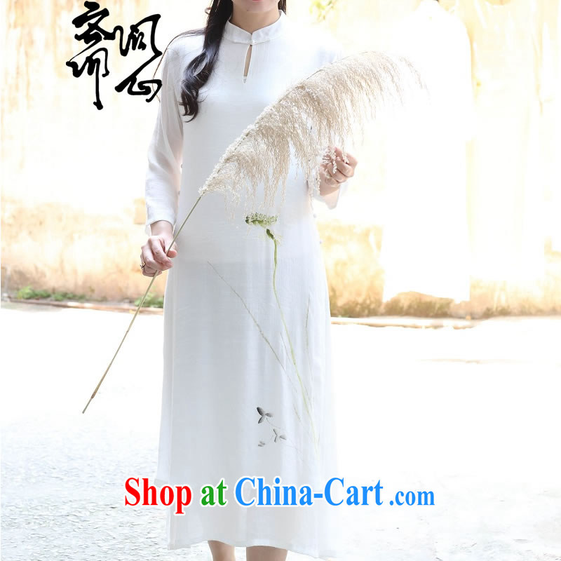Asked about Ramadan and the elections as soon as possible and spring female new, Chinese, dresses for hand-painted cupule double long skirt 1725 white take 7 days L code brassieres 100 CM