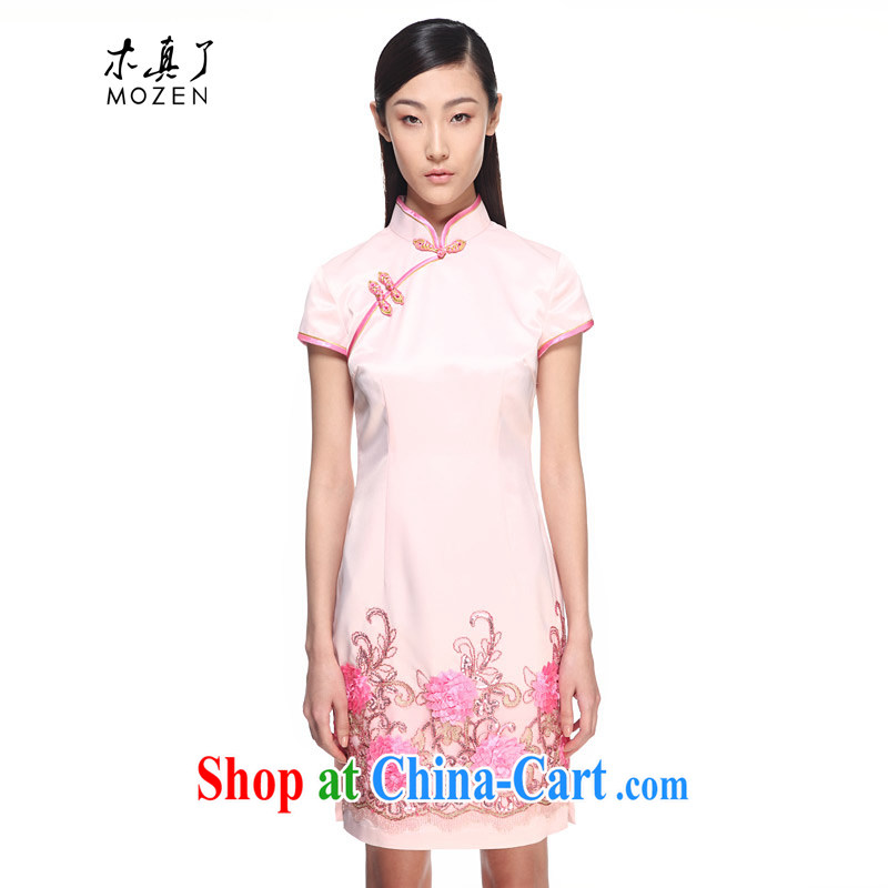 Wood is really the 2015 spring and summer new elegant refined short cheongsam beauty dresses 11,572 19 light pink XXXL