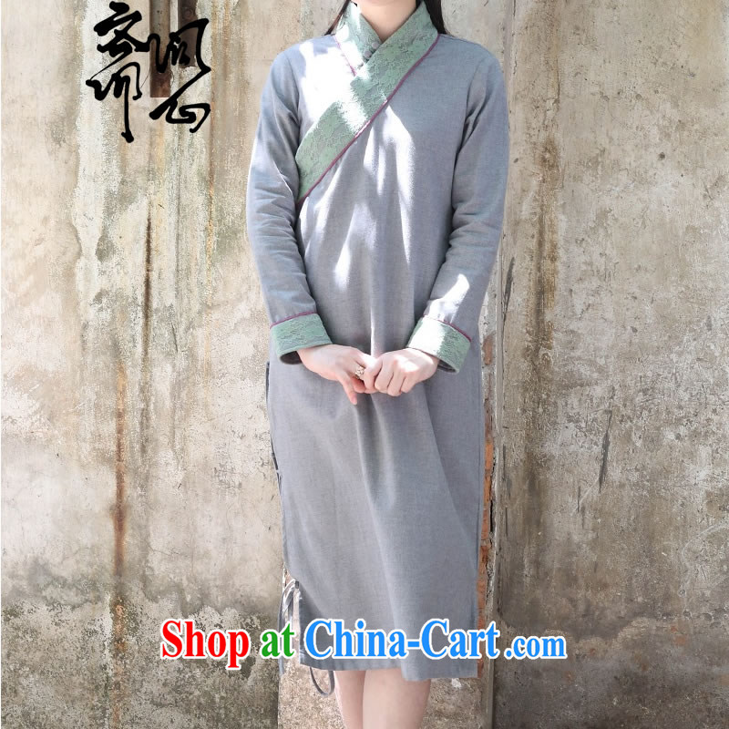 Asked about heart Id al-Fitr autumn New China wind National wind original design improvements, served ripstop taffeta overlay skirt, hand made, pre-sale 15 days 1684 WXZ L, ask a vegetarian, shopping on the Internet