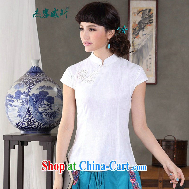 Jessup, 2015 spring and summer female manual Orchid tie cotton MA, for improved Chinese T-shirt shirt Chinese 732 CTI figure L