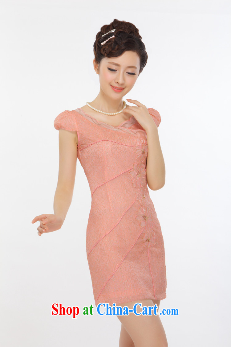 Slim li know summer 2015 new petal peach and gold thread beads, embroidery and stylish improved short cheongsam QLZ Q 15 6006 orange toner M pictures, price, brand platters! Elections are good character, the national distribution, so why buy now enjoy more preferential! Health
