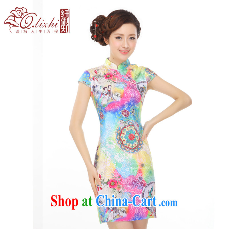 Slim li know that summer 2015 new retro China wind and stylish improved and elegant qipao gown small QW B 45 111 photo color XXL