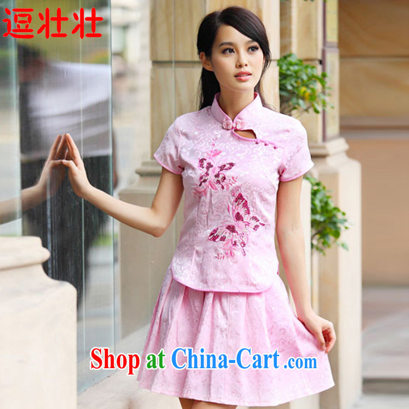 and Chuang Chuang 2015 summer, elegant antique cheongsam dress kit A 6908 _pink S