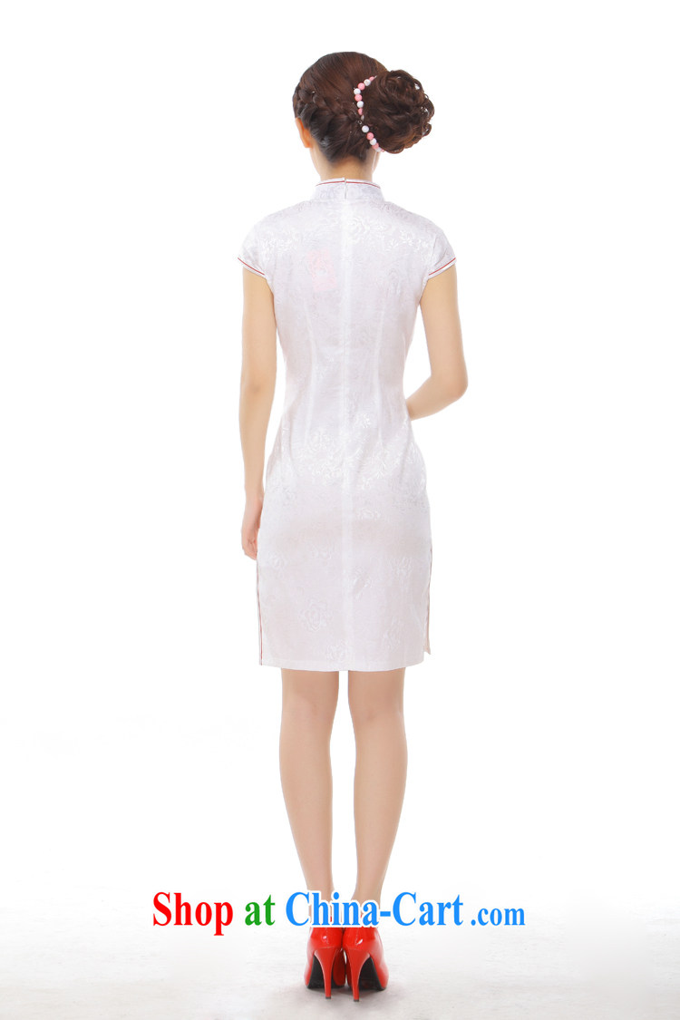 Slim li know took summer 2015 new retro improved embroidery name Yuan Hong Kong Small wind power's cheongsam Q 43,170 Pearl White M pictures, price, brand platters! Elections are good character, the national distribution, so why buy now enjoy more preferential! Health