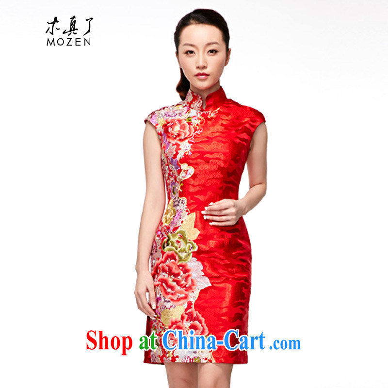 Wood is really the 2015 spring and summer new bridal dresses red wedding dresses dress toast 32,358 04 red XXL (A)