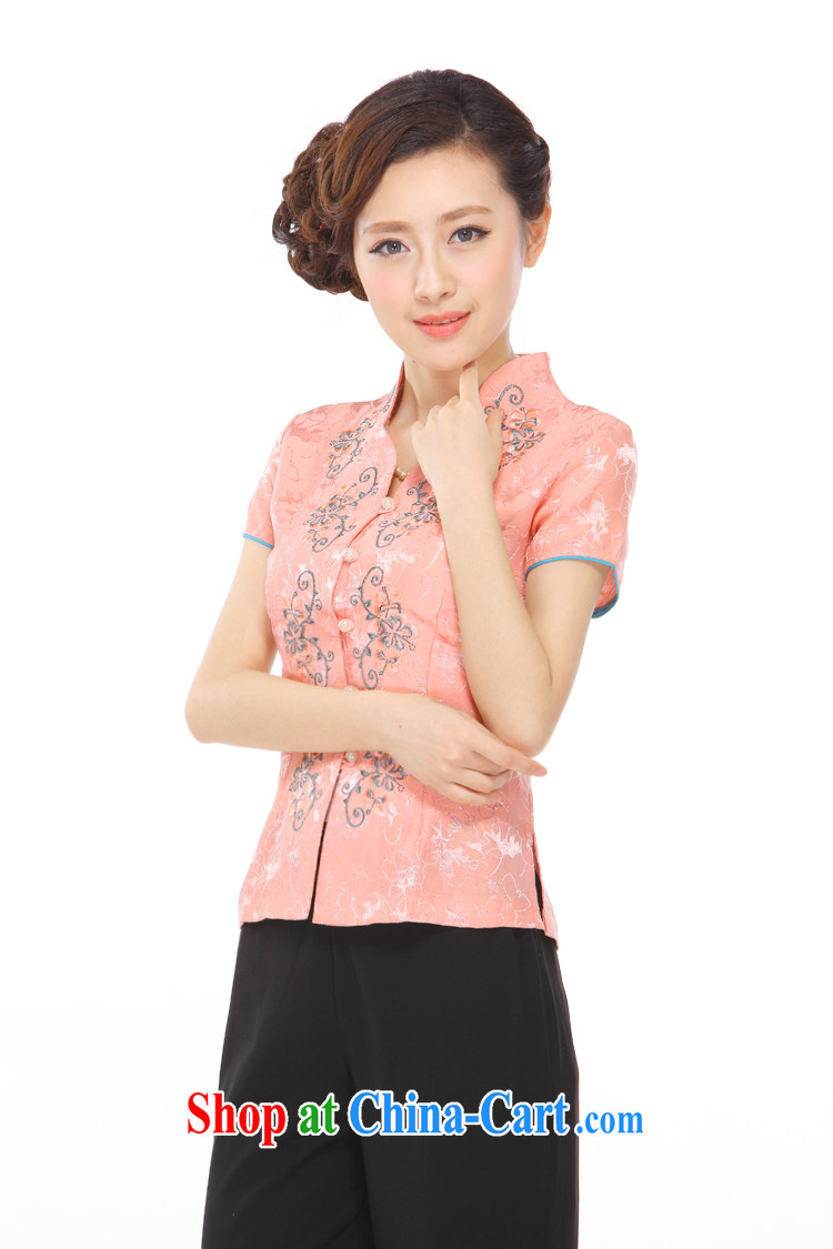Slim li know summer 2015 new gold thread embroidery style lady stylish improved Chinese shirt Q 72,002 light purple XXXL pictures, price, brand platters! Elections are good character, the national distribution, so why buy now enjoy more preferential! Health