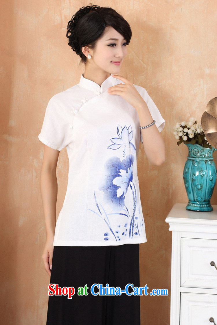 Jessup, 2015 spring and summer women's clothing new cotton the maximum code Chinese, for the charge-back improvements, served a short-sleeved shirt Tang women 2373 M blue XXL pictures, price, brand platters! Elections are good character, the national distribution, so why buy now enjoy more preferential! Health