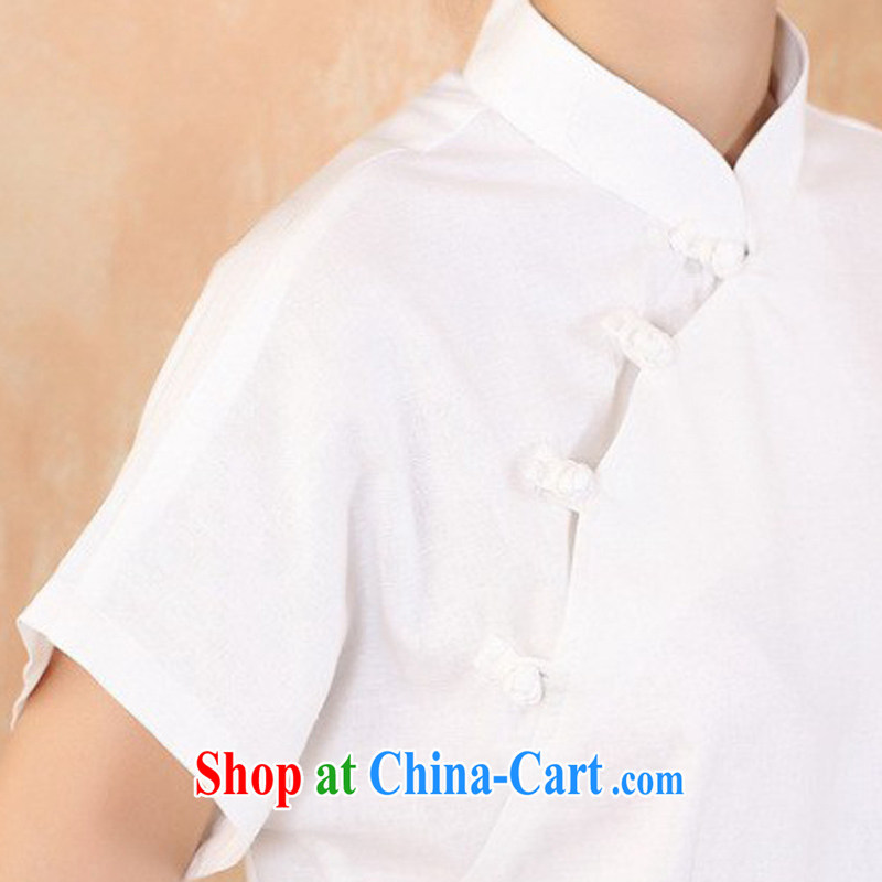 Cheng Kejie, Wiesbaden, 2015 spring and summer women's clothing new units the maximum code Chinese, for the charge-back improvements, served a short-sleeved shirt Tang women M 2375 white XXXXL, Jessup, and shopping on the Internet