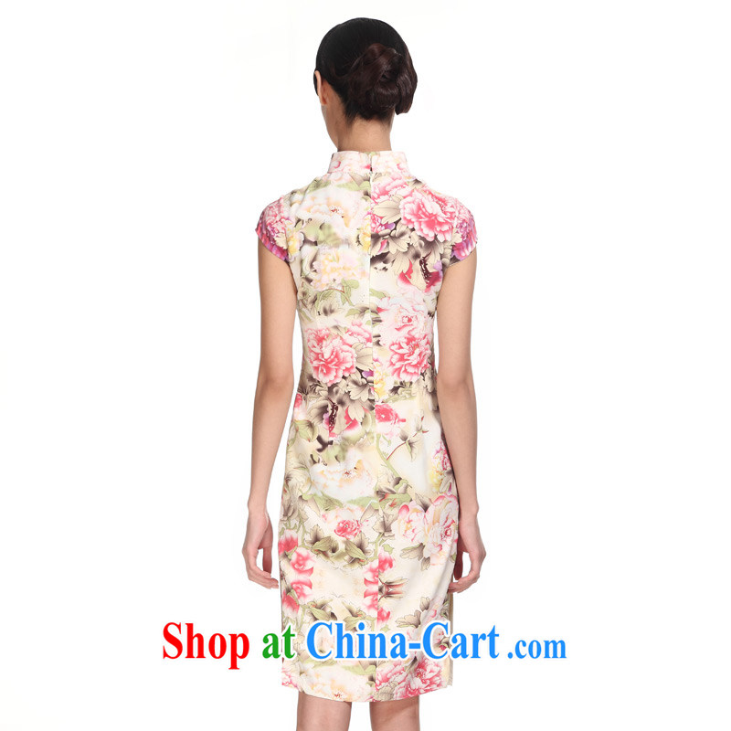 Wood is really the 2015 spring and summer new elegant beauty improved short cheongsam Chinese dresses 01,003 13 yellow XXL, wood really has, shopping on the Internet