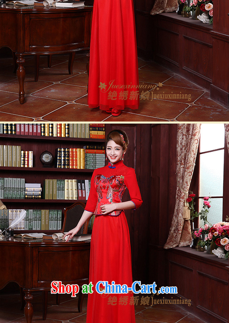 There is embroidery bridal 2014 summer new dresses marriage Chinese short-sleeve Phoenix also improved red dress bridal toast serving QP - 369 short-sleeved made final pictures, price, brand platters! Elections are good character, the national distribution, so why buy now enjoy more preferential! Health