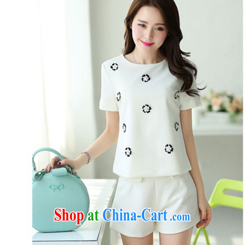 2014 spring and summer and autumn with new women manually load staples from yuan style small fragrant wind Kit white XXL