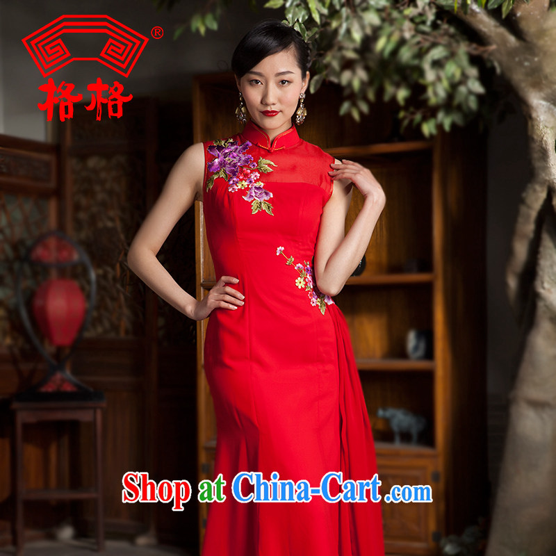 Huan Zhu Ge Ge 2014 spring and summer new only flowers, upscale embroidered ribbons sauna silk wedding dresses the dresses red 2 XL