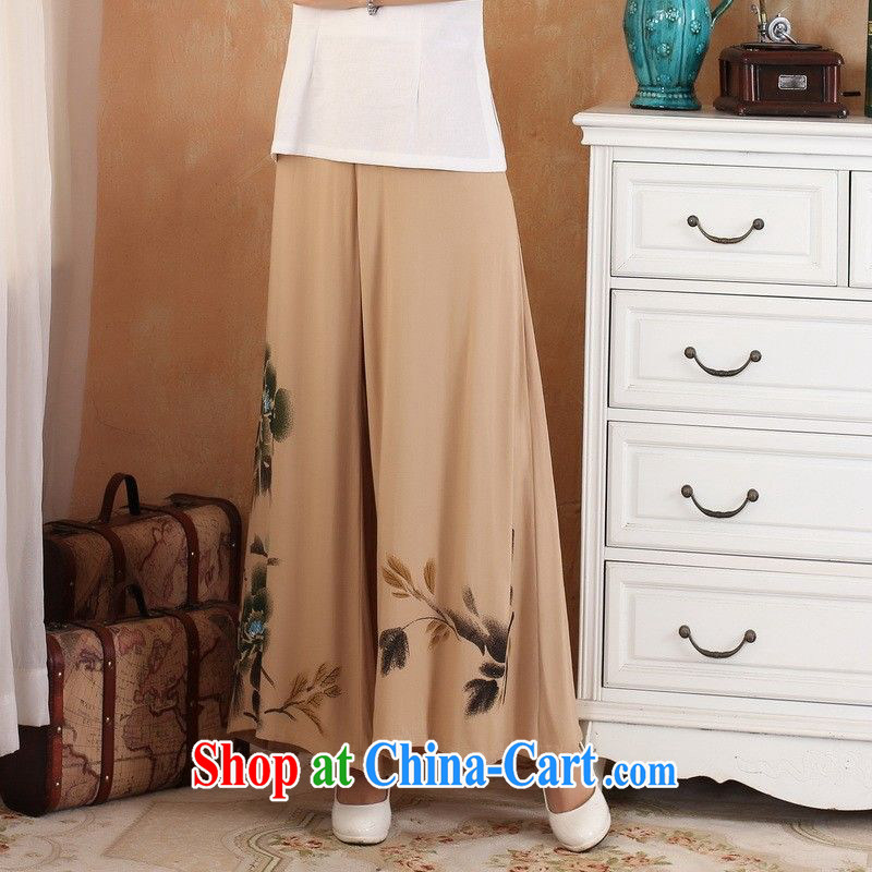Nigeria, the 2014 new spring and summer, the female stamp comfortable 100 ground units the commission Wide Leg pants and skirts pants pants short pants - 2 card its color L