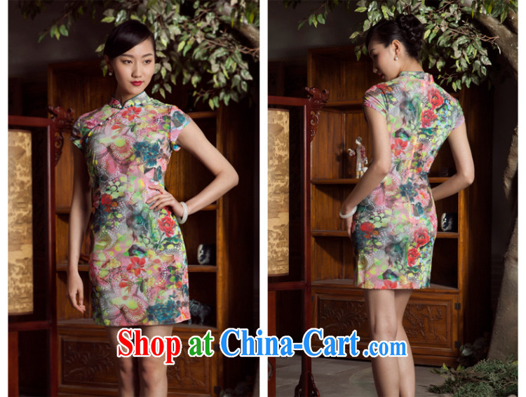 Princess spring and summer New New Chinese improved stylish short cheongsam dress girl light green XL pictures, price, brand platters! Elections are good character, the national distribution, so why buy now enjoy more preferential! Health
