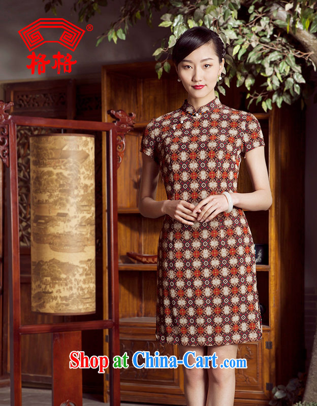 Huan Zhu Ge Ge spring and summer new small floral fashion improved temperament mother dresses skirts girls card its color 4 XL