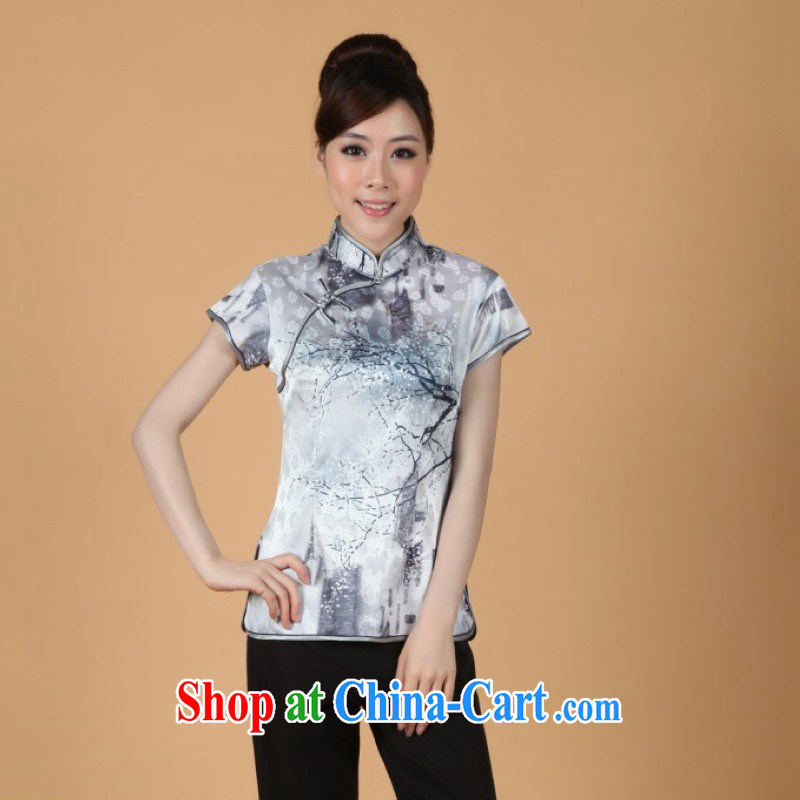 The floor is still building new summer dress season, stamp duty for short-sleeved Chinese improved cheongsam - 1 white M