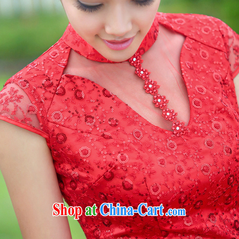 The bride's wedding dresses 2015 new dresses stylish improved cheongsam lace long qipao 343 L, the bride, shopping on the Internet