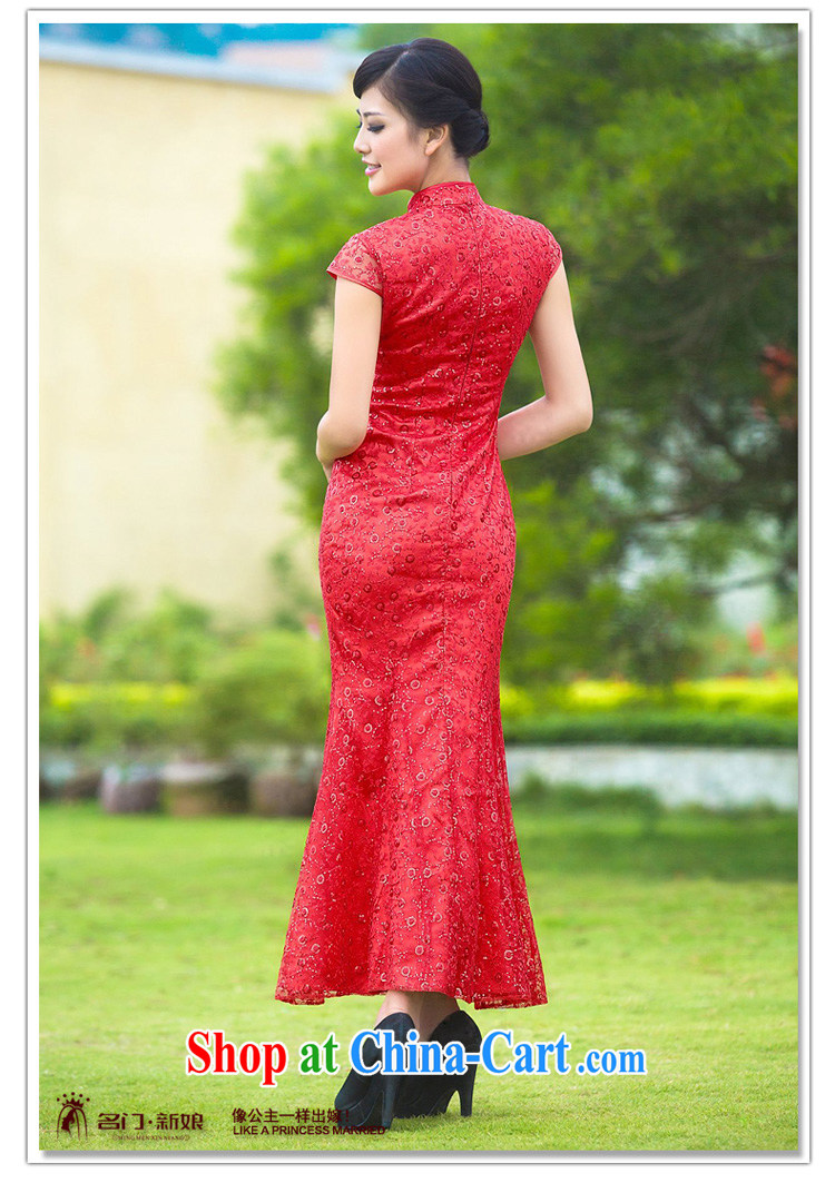 The bride's wedding dresses 2015 new dresses stylish improved cheongsam lace long qipao 343 L pictures, price, brand platters! Elections are good character, the national distribution, so why buy now enjoy more preferential! Health