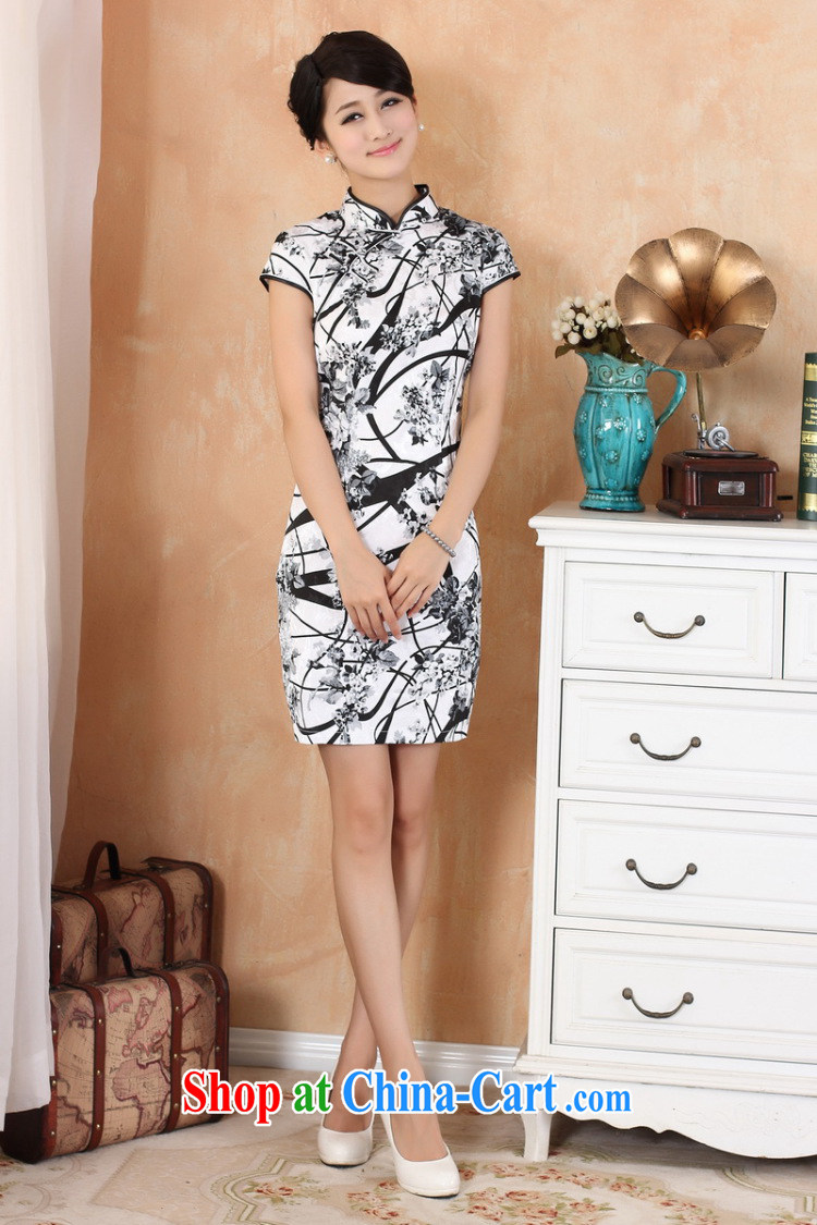 The Jing contributed new, in summer, long and short-sleeved China wind improved hand-painted cheongsam Chinese show clothing - 1 white XL (115 - 120 ) jack pictures, price, brand platters! Elections are good character, the national distribution, so why buy now enjoy more preferential! Health