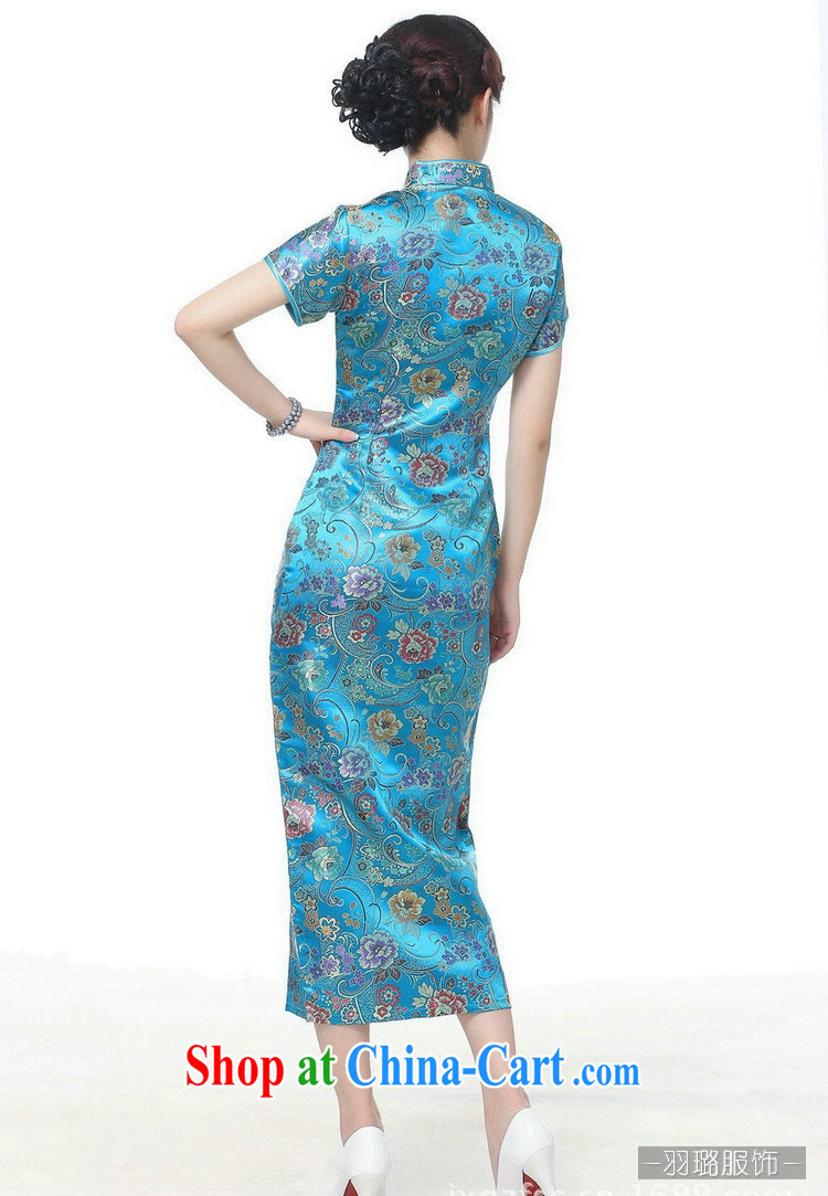 Jessup, new retro Ethnic Wind improved 10 tablets for short-sleeved, for long dresses cheongsam Chinese TJ 0026 #Lake blue XXXL pictures, price, brand platters! Elections are good character, the national distribution, so why buy now enjoy more preferential! Health