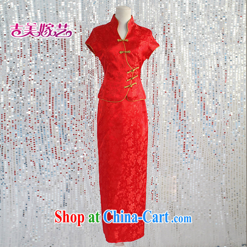 wedding dresses, marry us performing arts 2015 new bag shoulder Chinese bridal dresses short paragraph 332 QP bridal dresses red XXL